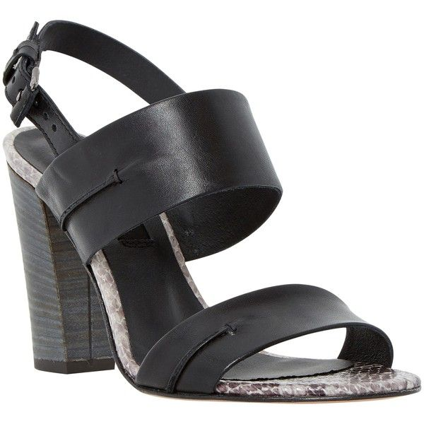 Dune Black Jenifer Block Heeled Sandals