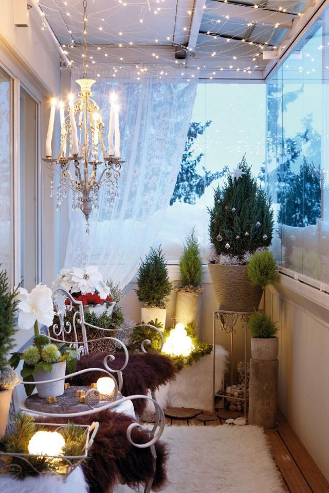Somista parveke jouluksi - Decorate your balcony for Christmas - decoracion navidea para exteriores de casas