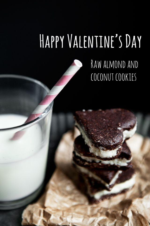 Almond Cookies with Peppermint Custard  Raw Recipe