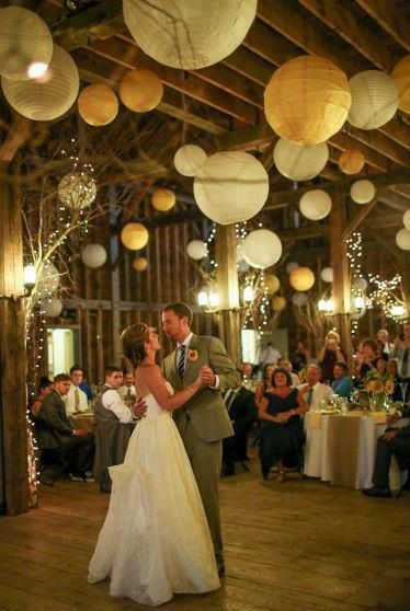 West Monitor Barn Richmond Vt Hanging Ceiling Decorations Paper Lantern Wedding