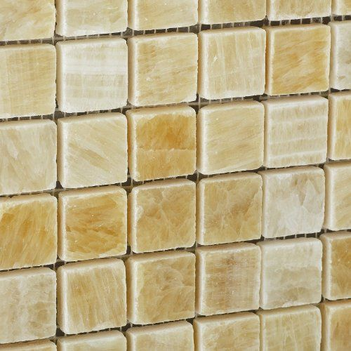 Kitchenfixtures Honey Onyx 1 X 1 Polished Premium Mosaic Tile On Mesh 6 X 6 Sample Check This Amazing Item By Mo Mosaic Tiles Ceramic Tiles Kitchen Fixtures