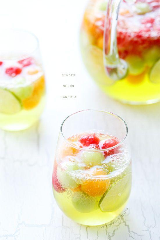 Ginger Melon Sangria #melonrecipes