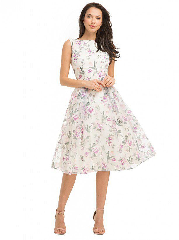 Chi Chi Xenia Dress | Floral Midi Prom Organza Dress | 1950s ...