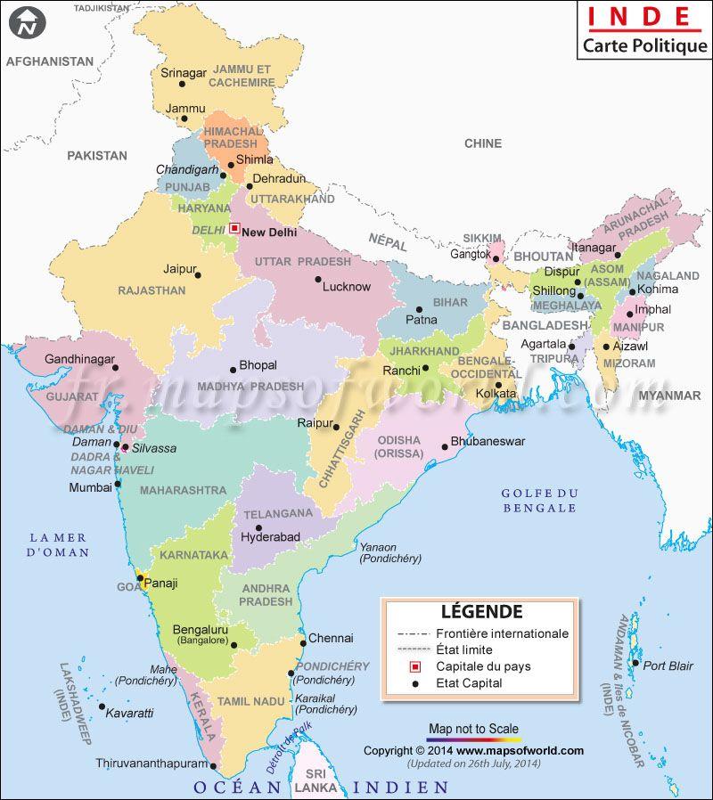 Carte Visite Inde.Carte Inde Inde Carte Inde Inde Et Bhoutan