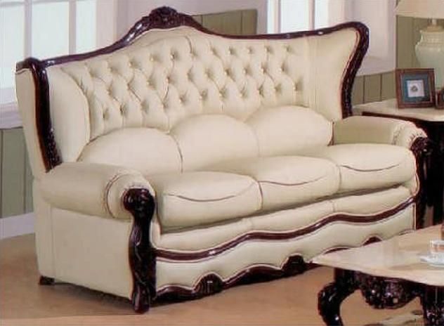 Exquisite Victorian Style Leather Sofas Italian Leather Sofa