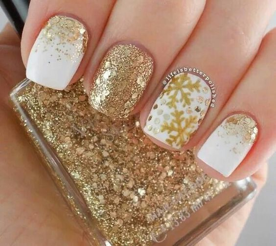 Winter nails 37 ideas elegant nail art glitter nail designs winter nails 37 ideas prinsesfo Gallery