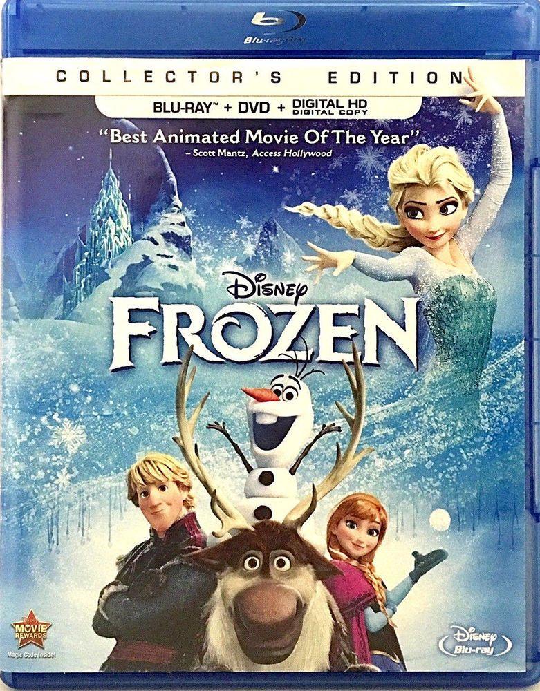 Frozen Disney Animated Film Blu Ray Dvd 2014 2 Disc Set Includes Digital Copy Ebay Disney Blu Ray Frozen Disney Movie Blu Ray