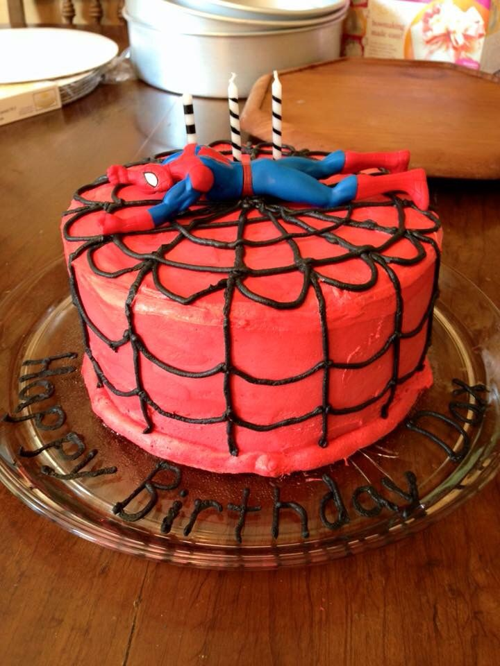 Spider-Man cake made for Dax as he requested