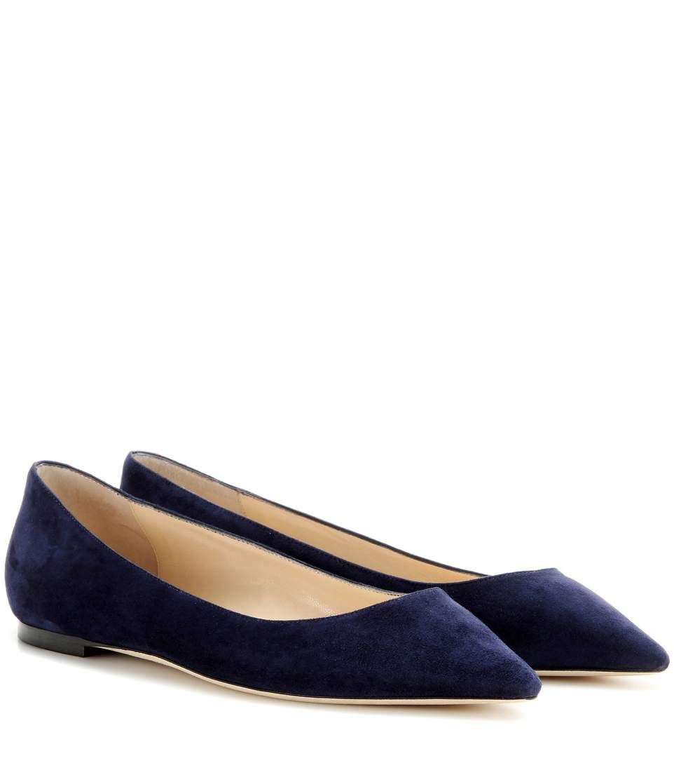 Romy suede ballerinas Jimmy Choo London