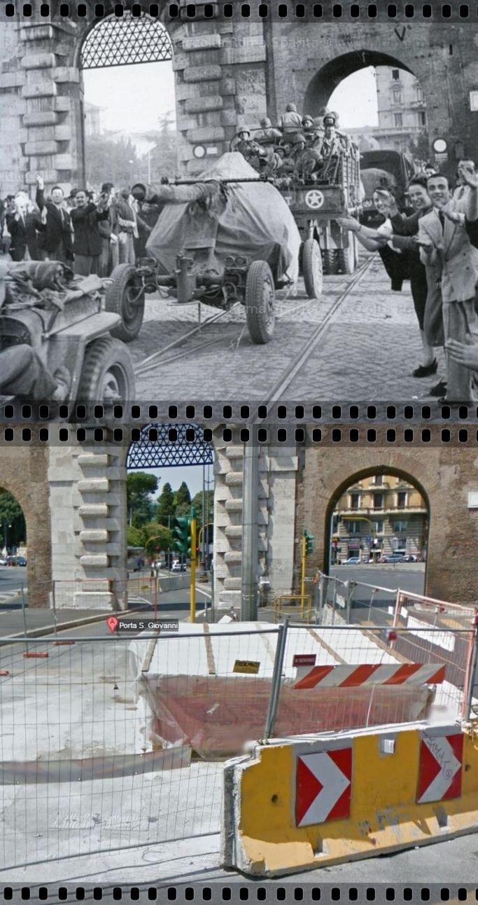 Truppe Alleate entrano in Roma da Porta San Giovanni 5 #Giugno1944