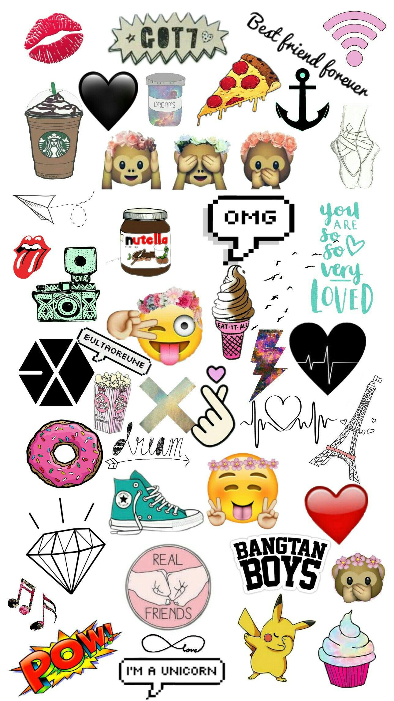 Wallpaper Fofos Bts Got7 Exo Bestfriend Kpop Bday Bags