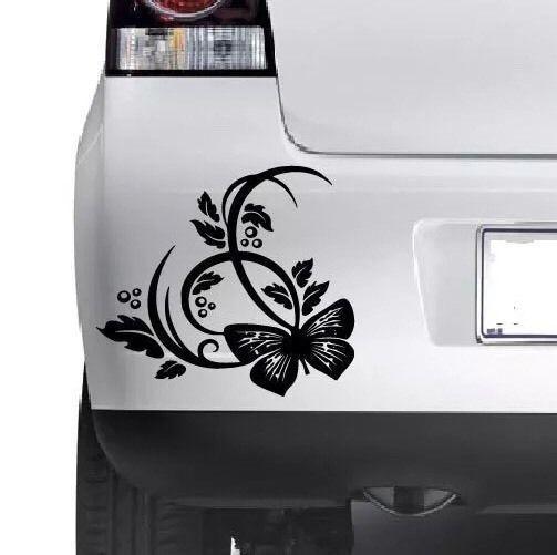 Hibiscus Flower Vinyl Decal Sticker Car Vehicle Bumper Window Sticker