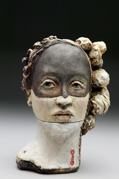 """Debra Fritts' """"The Path I Choose"""" is a striking sculpture that exemplifies the best in contemporary ceramics."""
