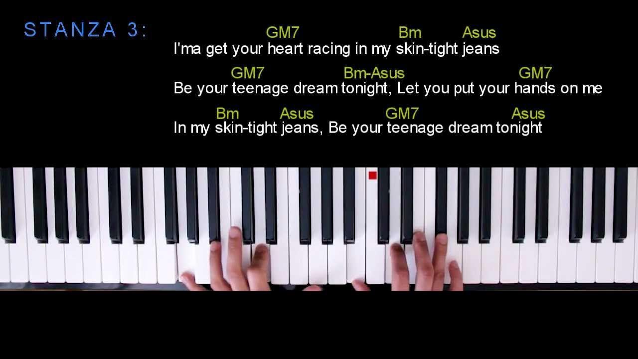 Teenage dream glee acoustic version piano tutorial music and teenage dream glee acoustic version piano tutorial hexwebz Images