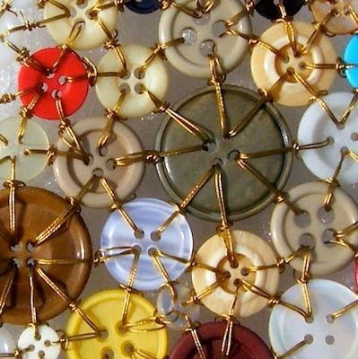 wire embroidered buttons