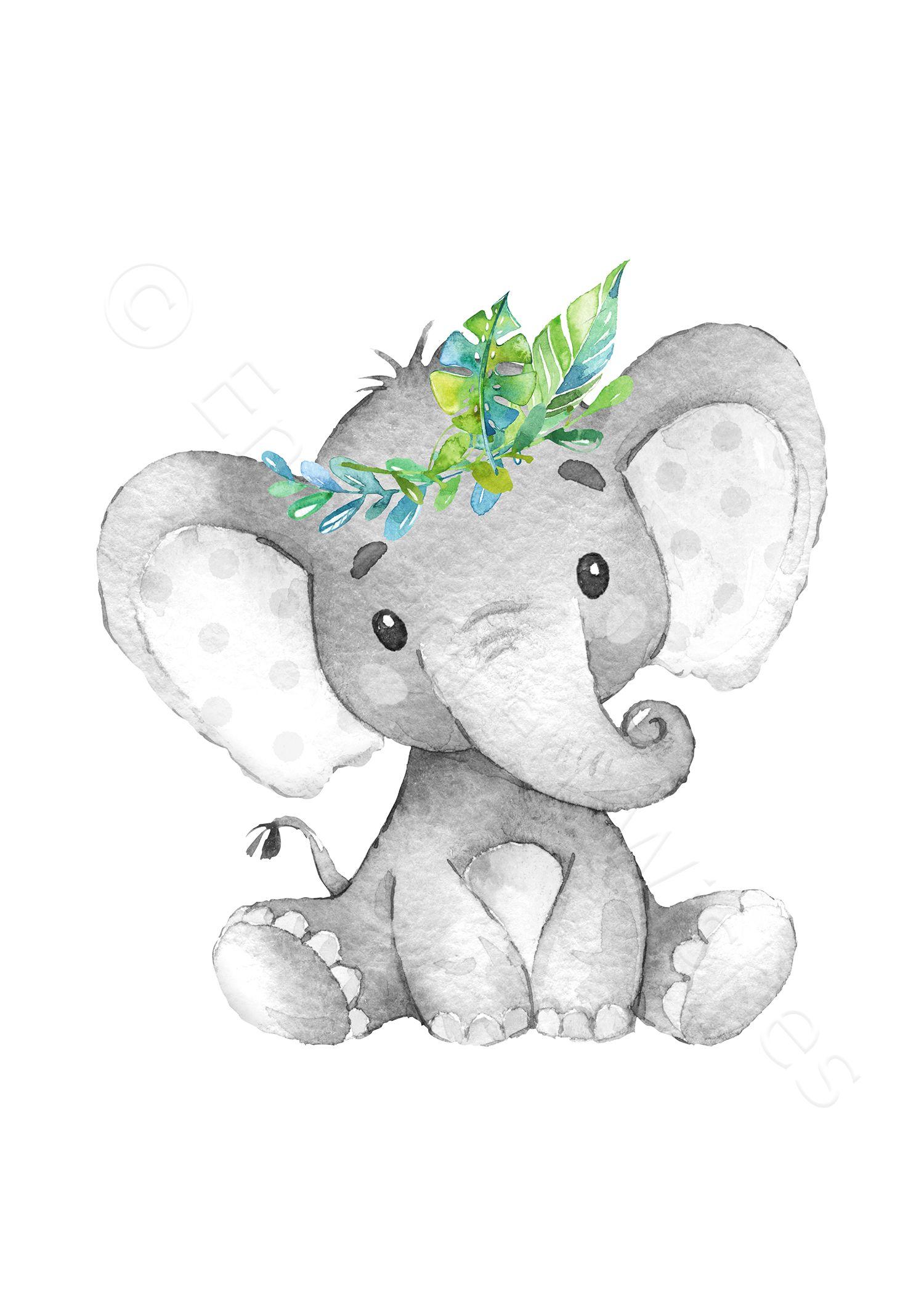 Grey Safari Animal Printable Prints Set of 3 - Jungle Nursery Wall Art Pictures - Printable Wall Art
