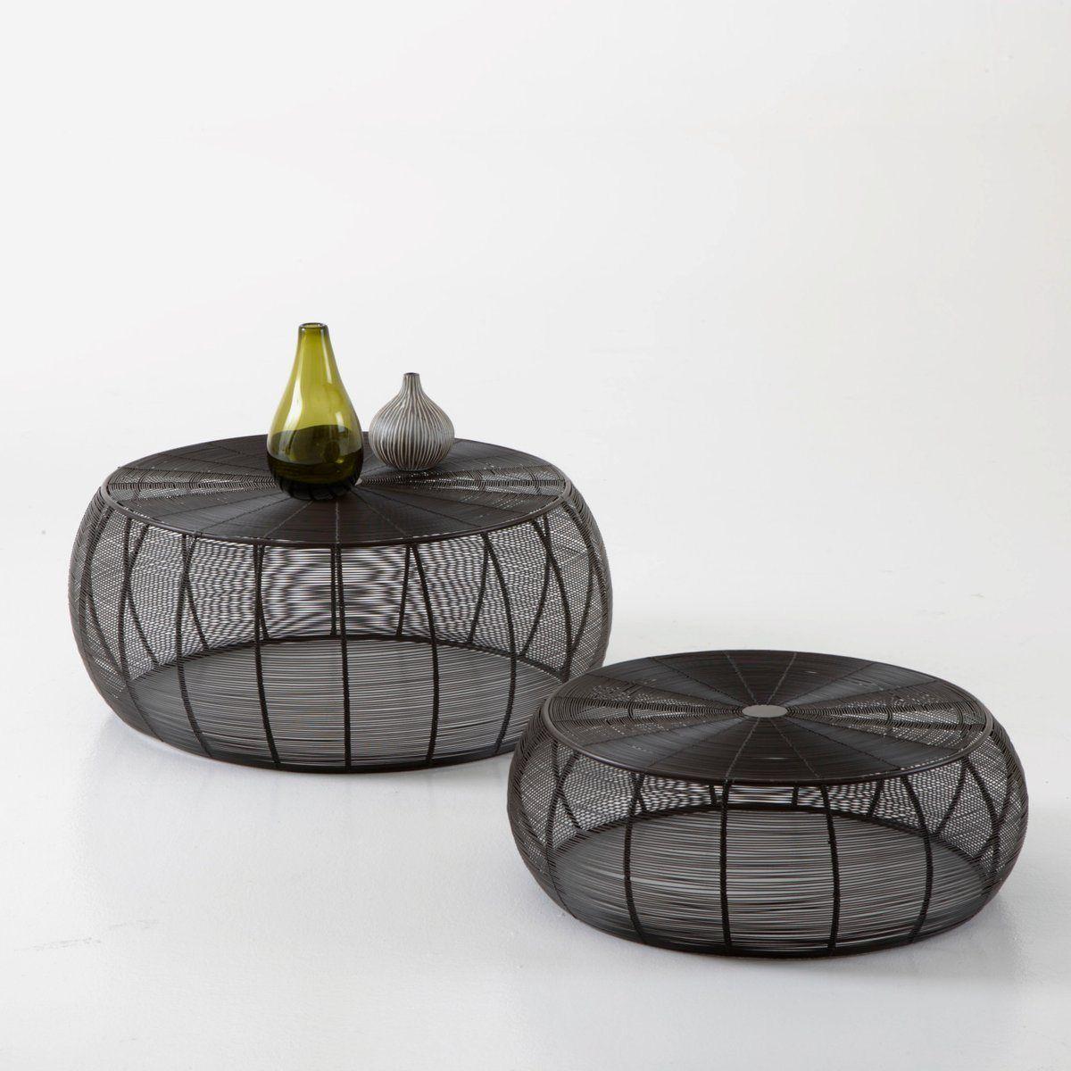 Table basse ronde acier filaire lot de 2 autre 249 euros - Table ronde la redoute ...