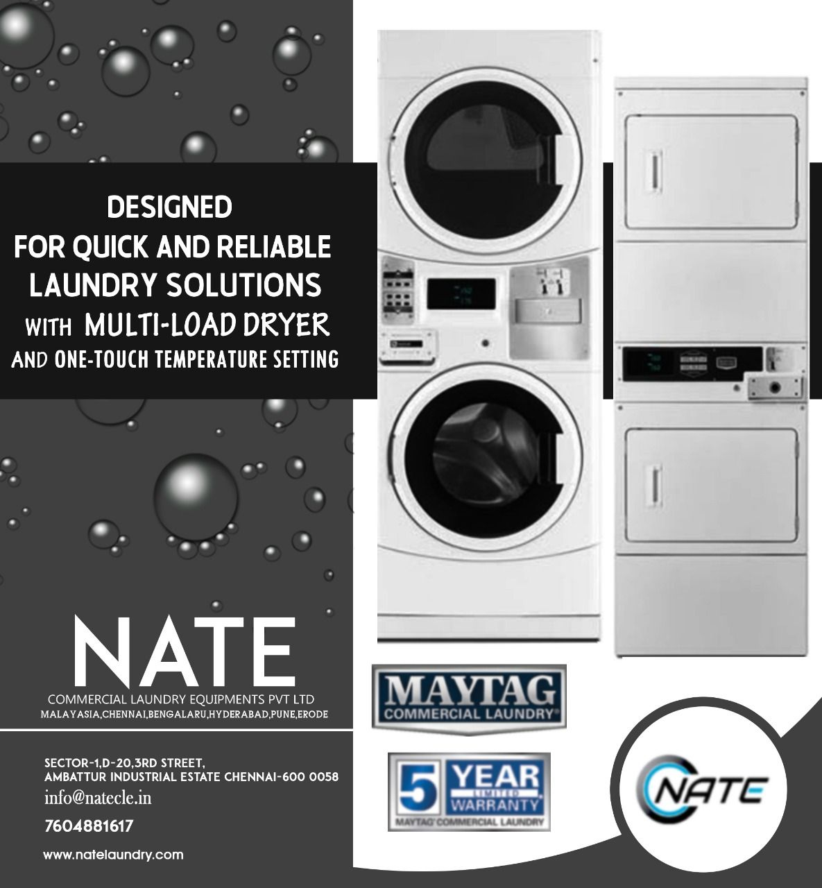 Run A Own Laundry Business With Nate Commercial Laundry Equipment