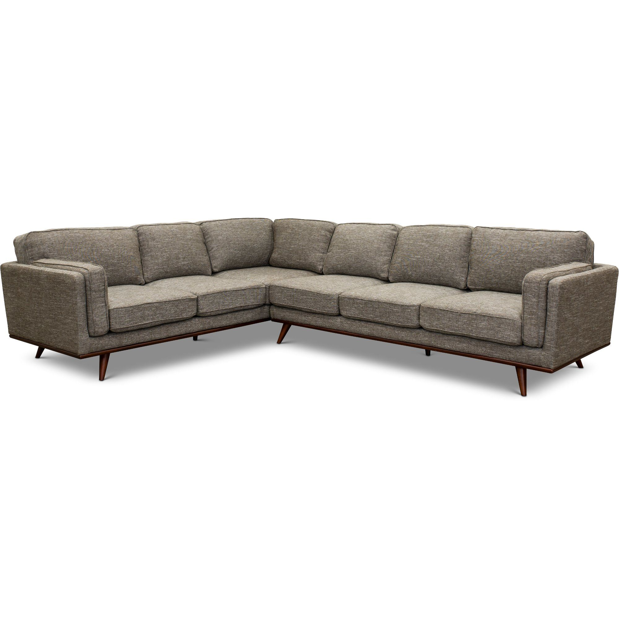 Gray 2 Piece Sectional Sofa With Raf Sofa Camden In 2020 2 Piece Sectional Sofa Sectional Sofa Modern Grey Sectional