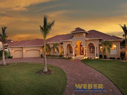 spanish style home designs with court yard | mediterranean house