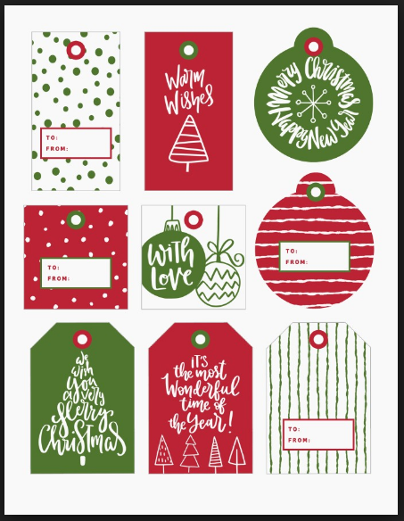 picture relating to Free Printable Editable Christmas Gift Tags named Cost-free Editable Xmas Labels Free of charge Most recent Xmas