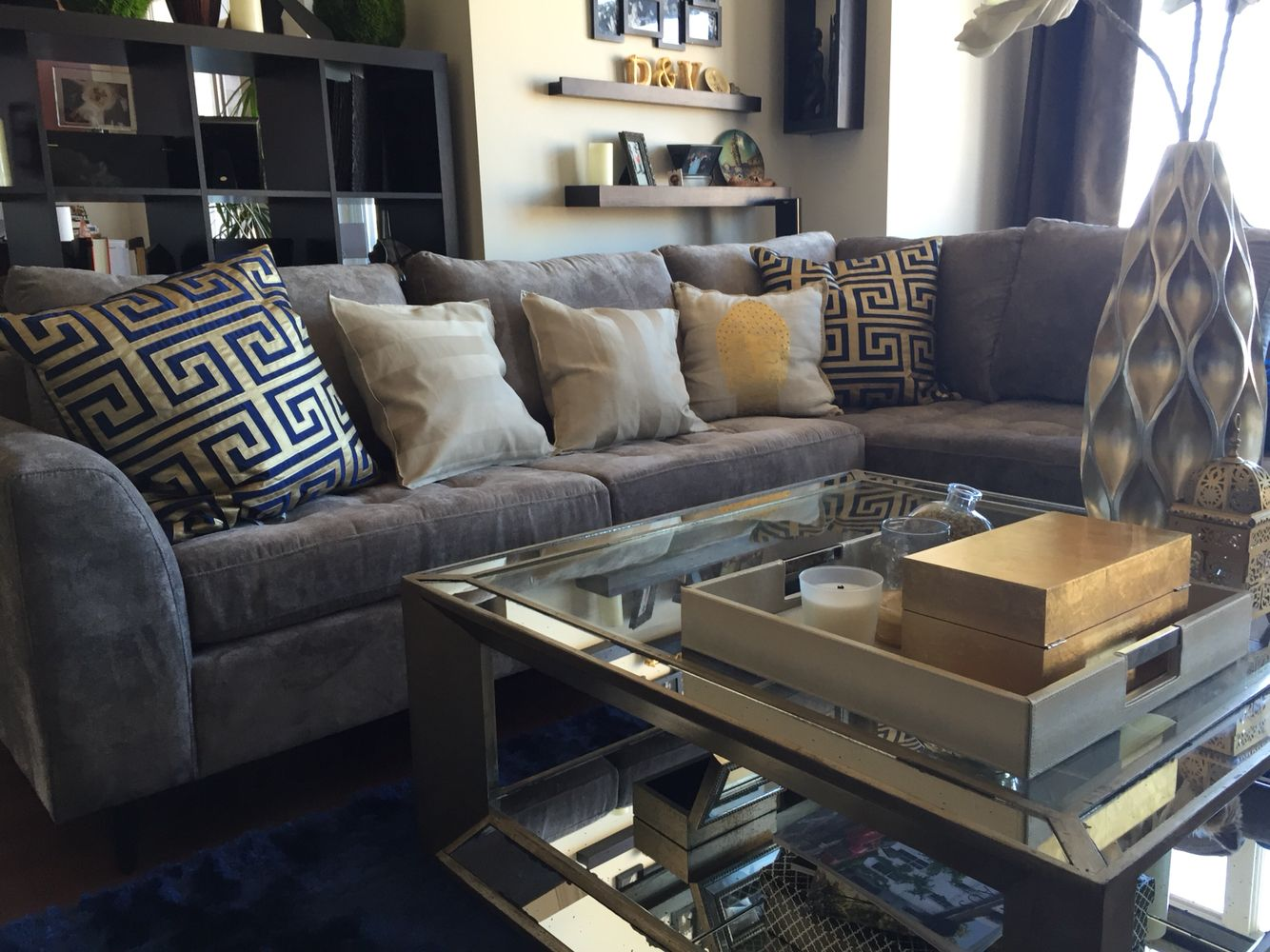 Love my new furniture dania lux couch z gallerie table living