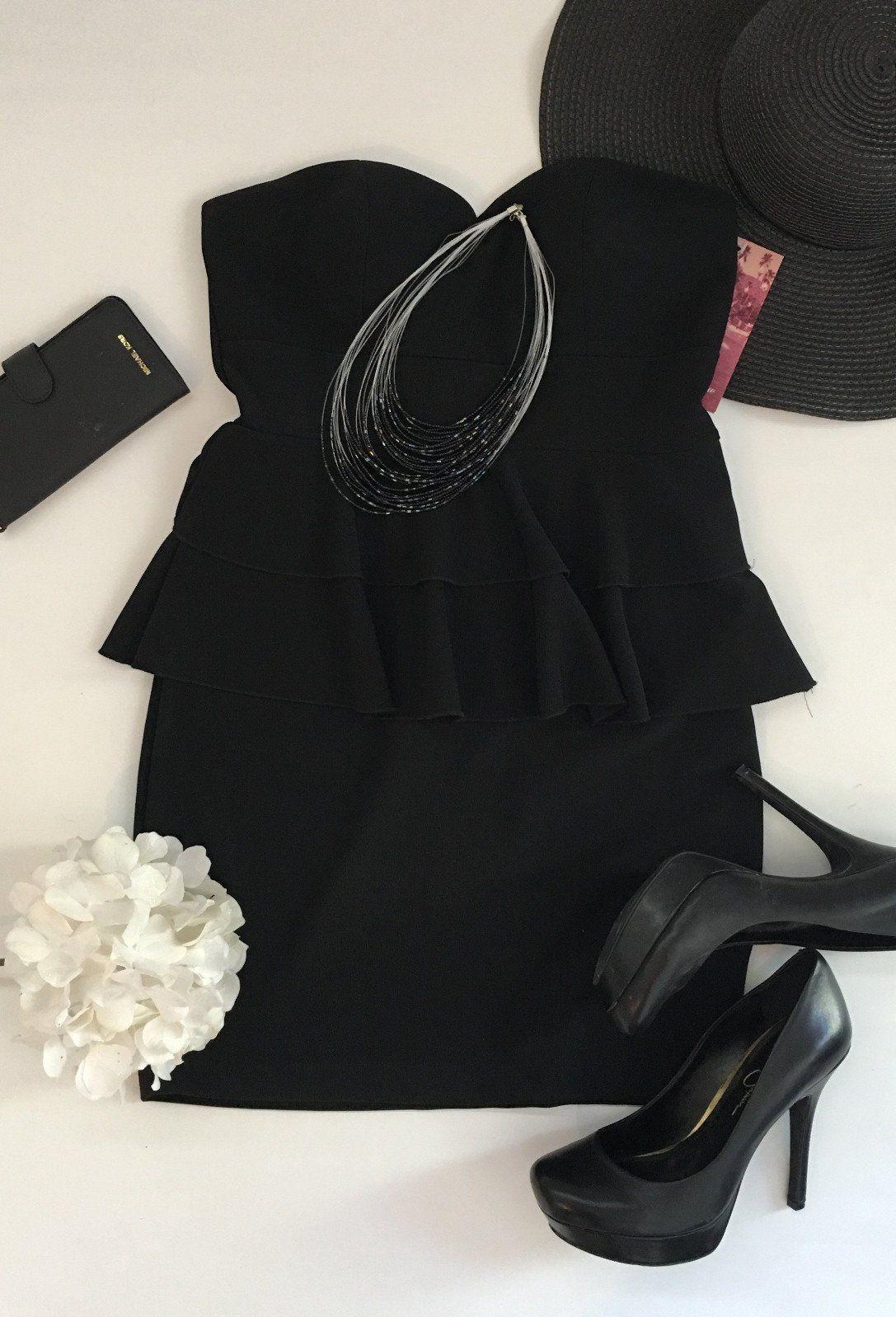 New emerald sundae black strapless dress l black strapless dress