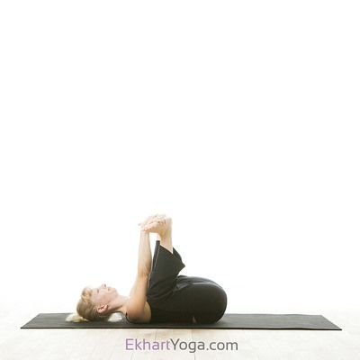 yoga pose happy baby pose/ananda balasana