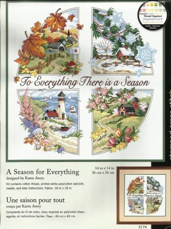 Counted Cross Stitch.   For Everything There is a Season