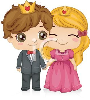 Cute Cartoon Princess | Cute Cartoon of a Prince and Princess - Royalty Free Clip Art ...