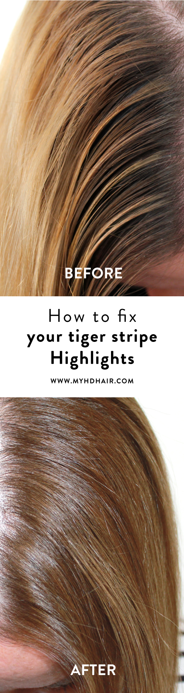How To Hide Your Tiger Stripe Highlights Beauty Pinterest