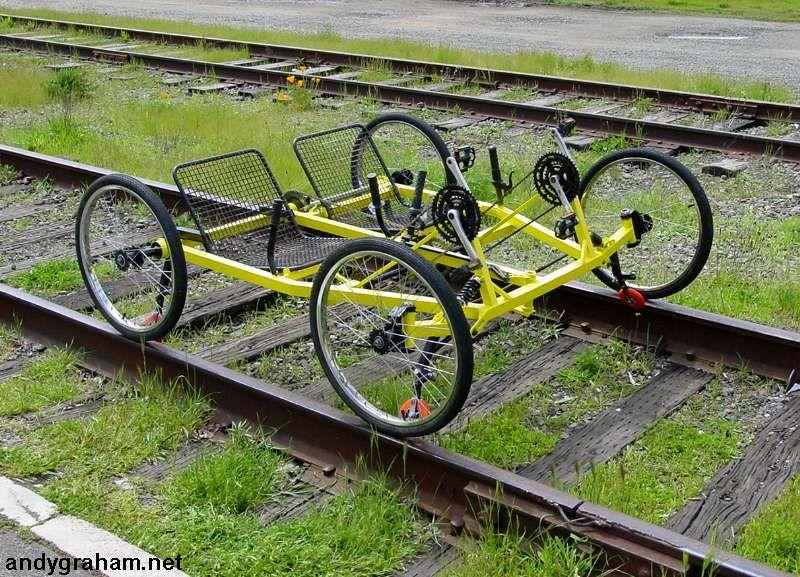 4 Wheeled Railbike By Andy Graham Motorised Bike Custom Bicycle 4 Wheels Motorcycle