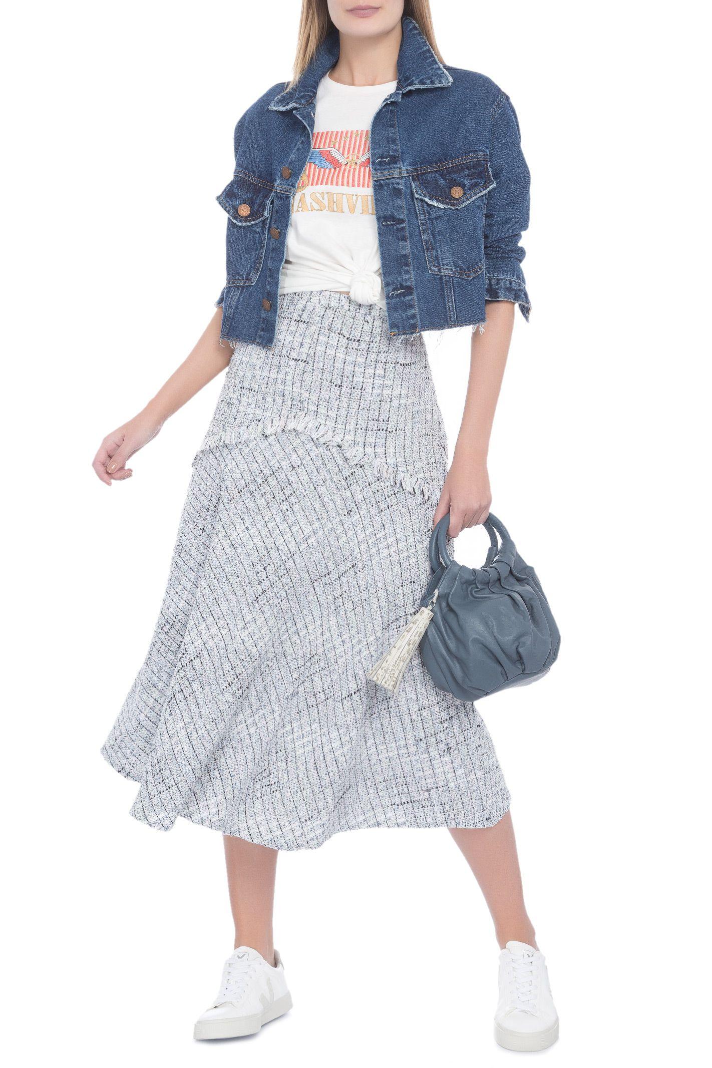 96db6d6f10ceb Saia Natalia Tweed Le Lis Blanc - Azul em 2019   Moda Feminina ...