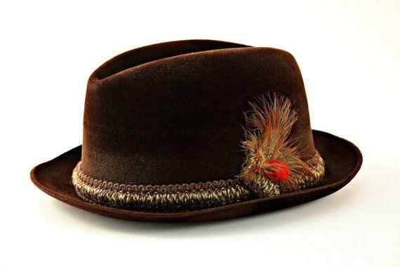 4267c6aaf0199 Vintage Fedora Hat Resistol Self Conforming by FindsFromYesteryear