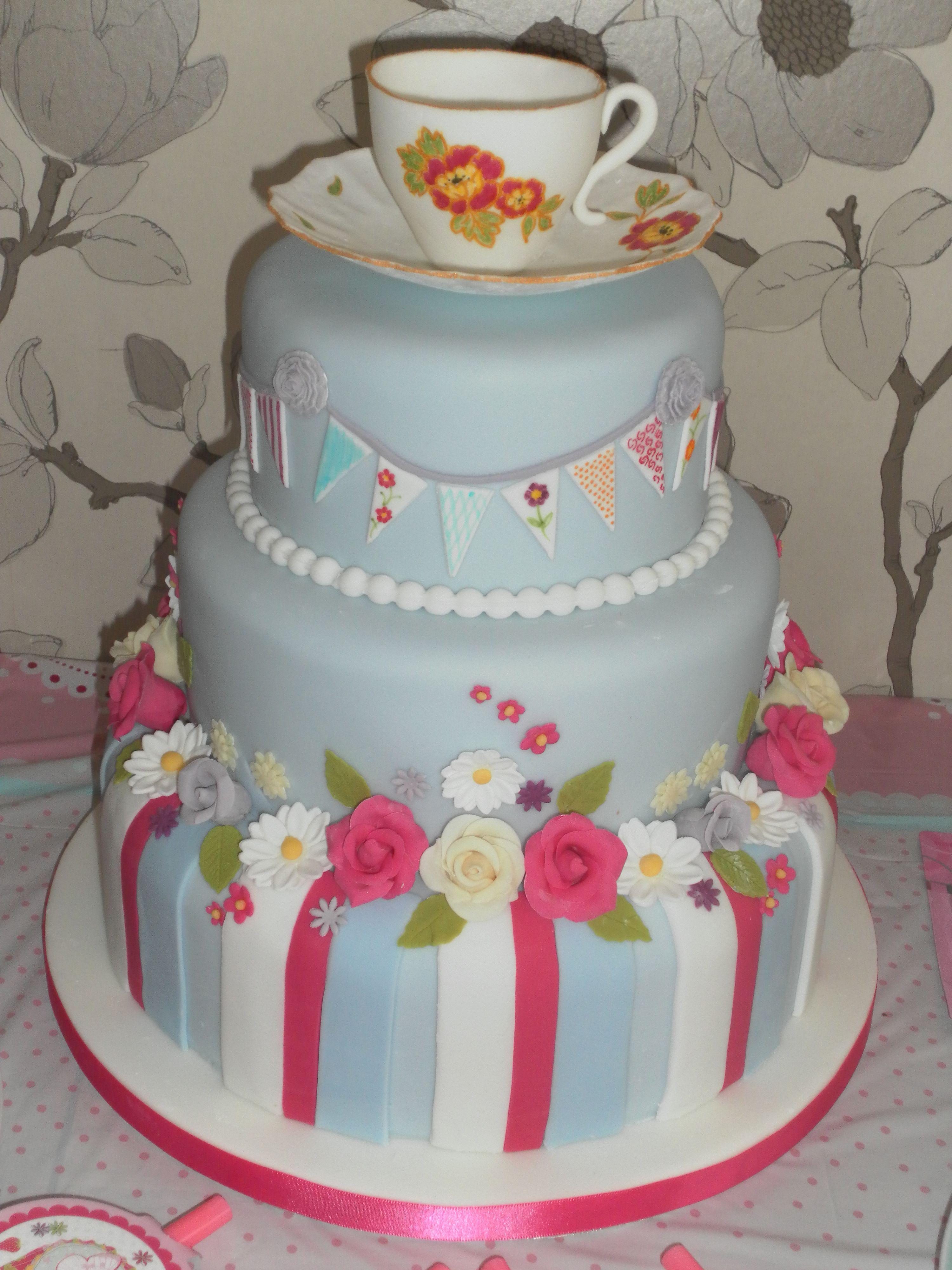 Afternoon Tea Birthday Cake | té | Pinterest | Afternoon tea ...