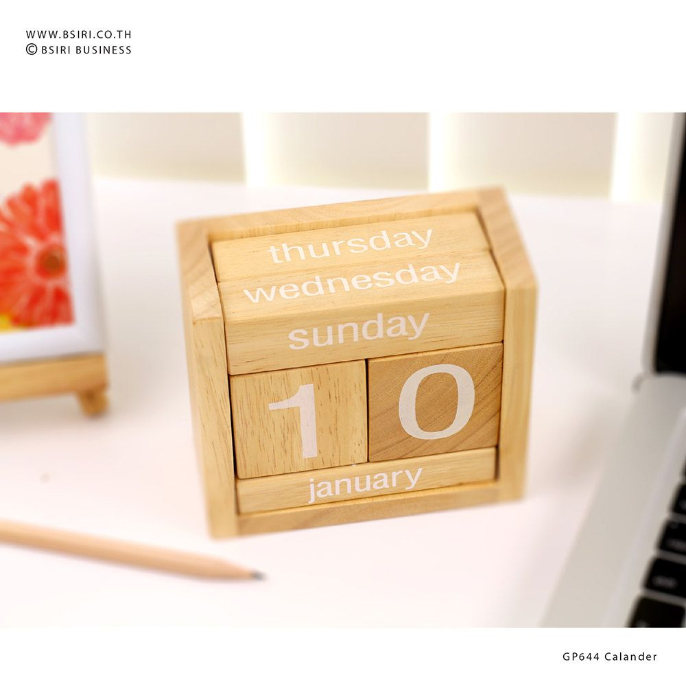 Uncategorized Wooden Block Calendar wooden calendar block craft perpetual handmade wood office decor block