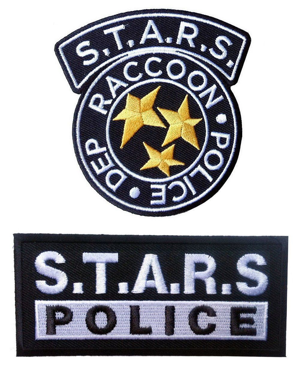 Set Of 2 Resident Evil S T A R S Raccoon Police Department Black Costume Patches Resident Evil Evil Patches