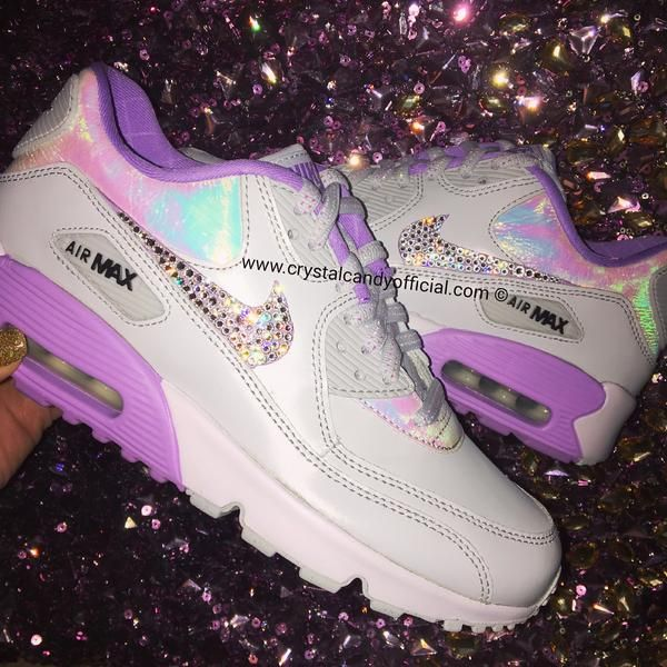 Crystal Nike Air Max 90's in Unicorn Holographic | Nike air