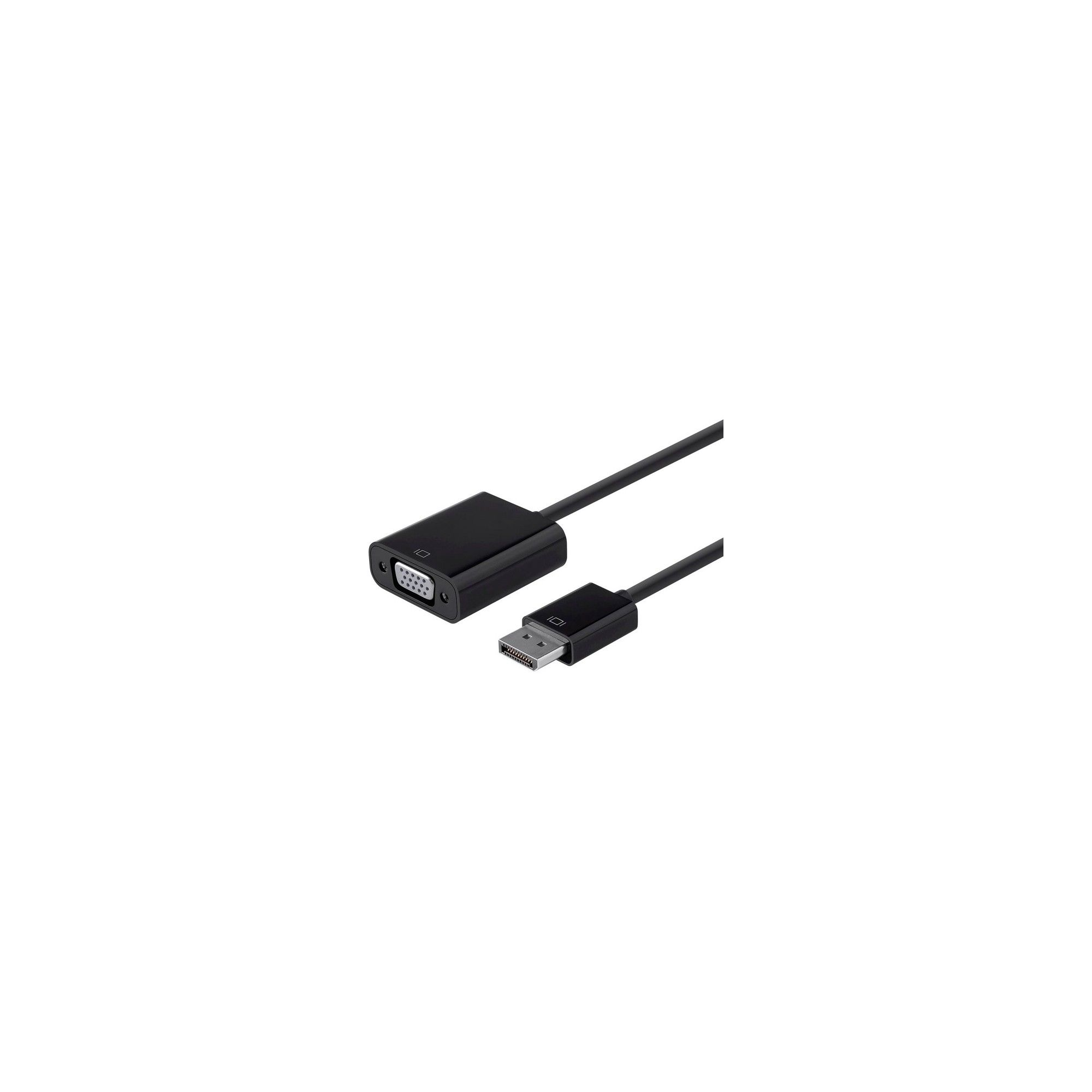Monoprice DisplayPort 1 2a to Vga Active Adapter, Black