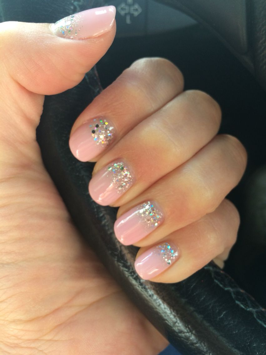 Pink nails and sparkle with biosculpture gel | n a i l s | Pinterest ...