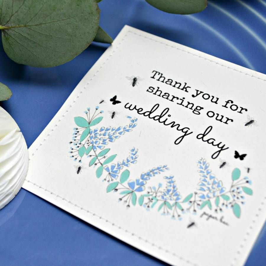 Wildflower Wedding Seed Packets With Blue Flower Design | Seed ...