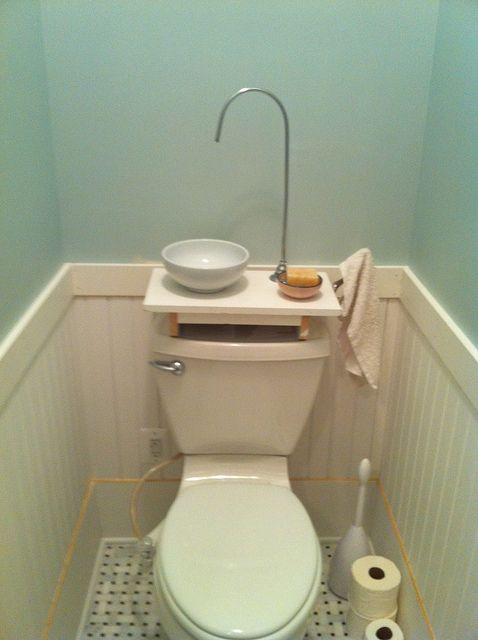 DIY Gray Water Sink Using A Bowl From The Kitchen, Wood Scraps And Plumbing  Leftovers
