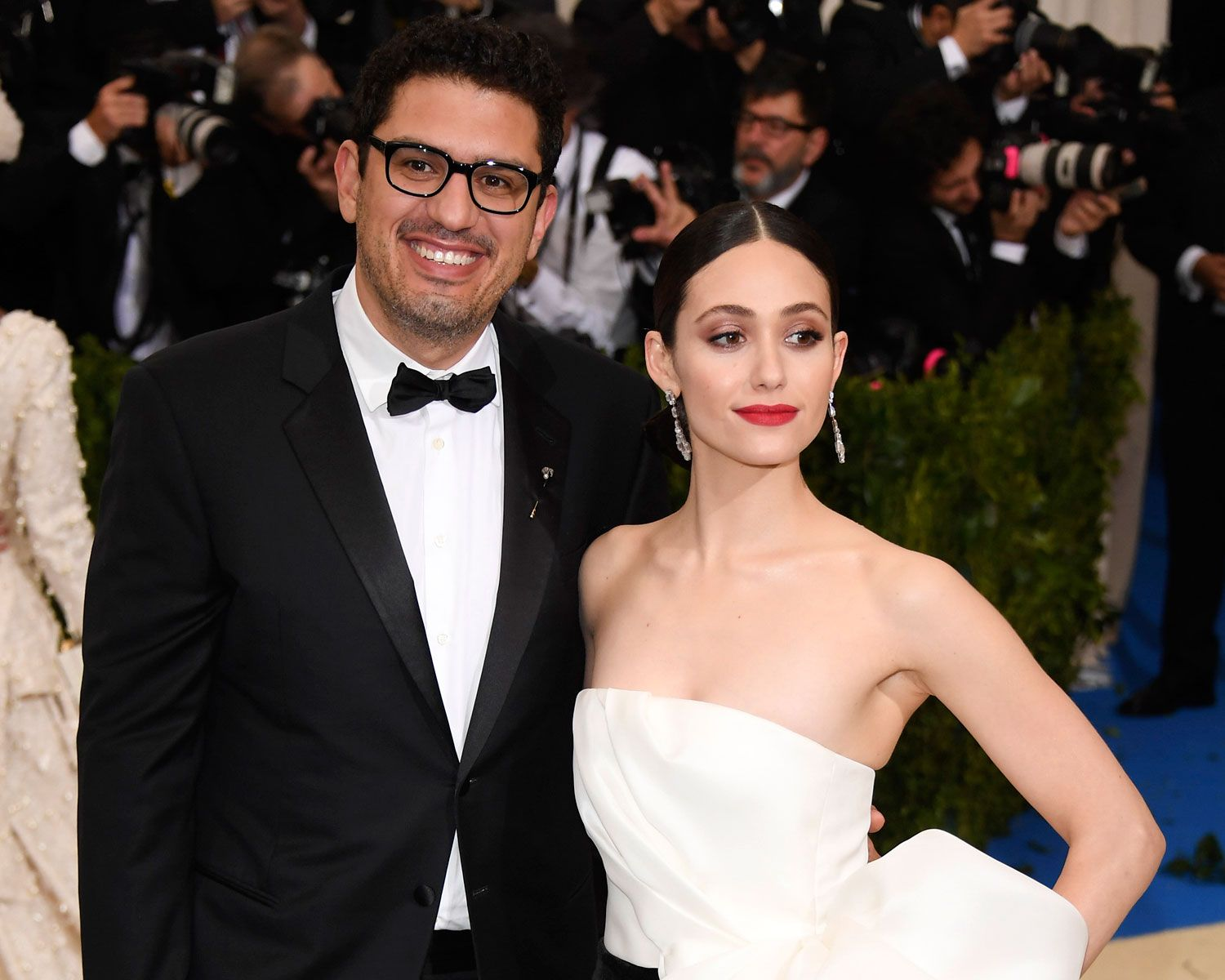 emmy rossum shares first wedding photos after marrying sam esmail