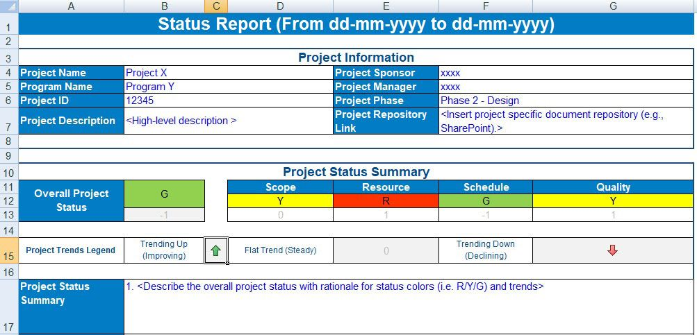 Discover Free Project Status Report Template Excel And Make Manage Status Reports Project Status Report Progress Report Template Project Management Templates