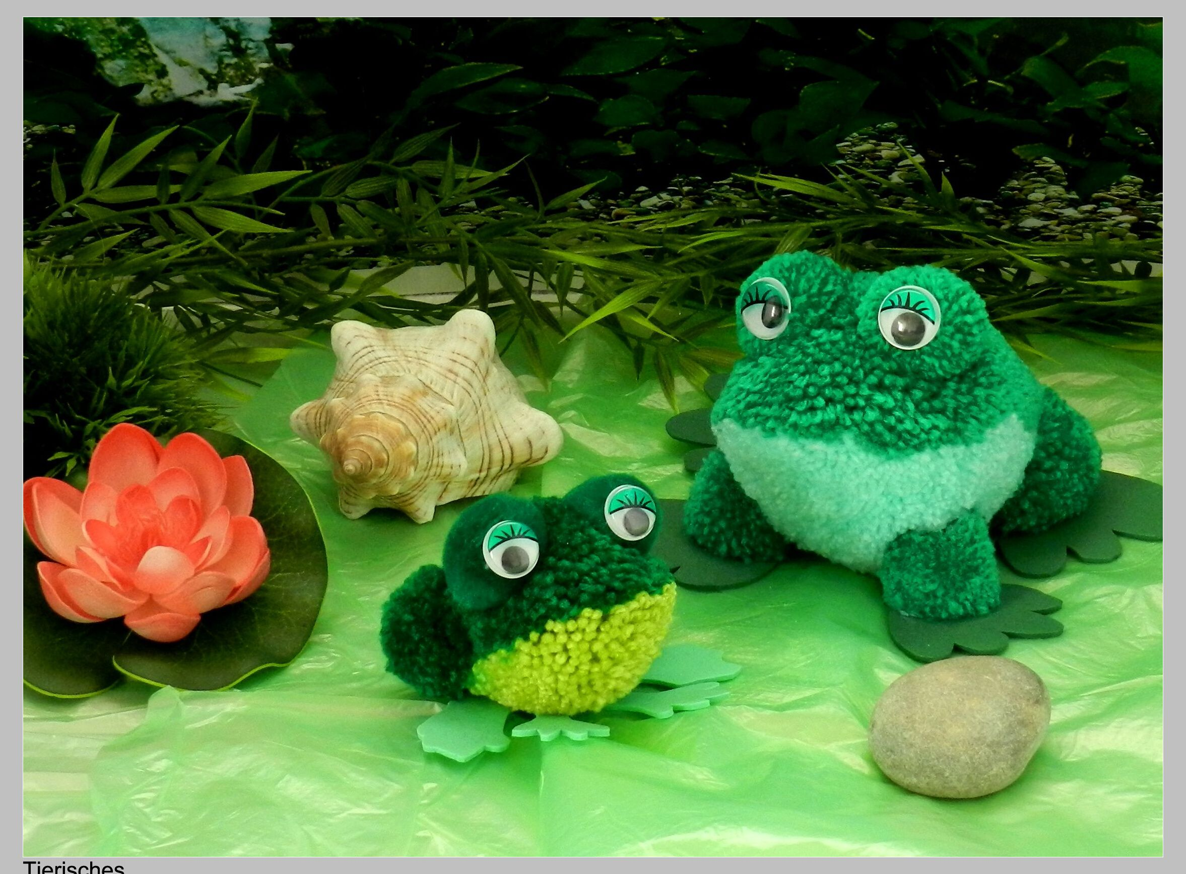 Ach Du Dicker Frosch Frosch Aus Pompons Gebastelt