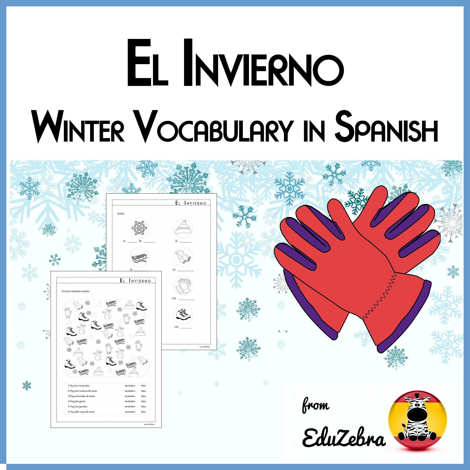 Winter Spanish Vocabulary
