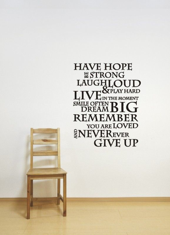 Have hope be strong | Muurstickers Woonkamer | Woning-Decoratie.nl ...