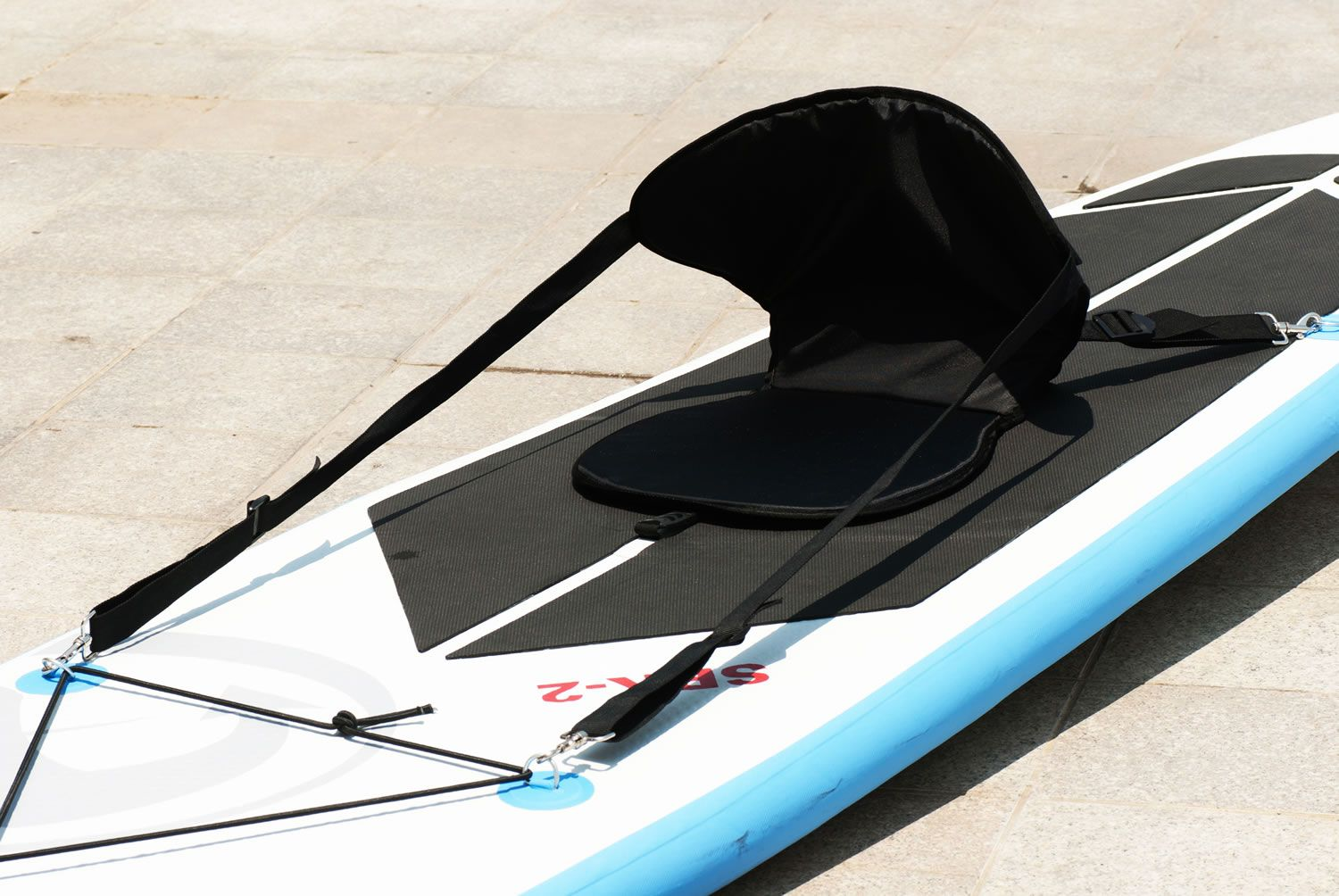 Turn your SPK 1 or SPK 2 SUP board into a kayak with this kayak seat