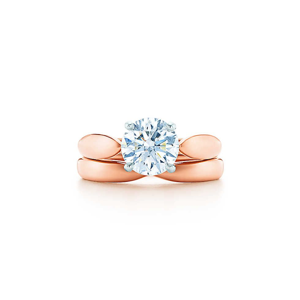 Tiffany Harmony ring in 18k rose gold with a round brilliant diamond - Size 6 1/2 Tiffany & Co.