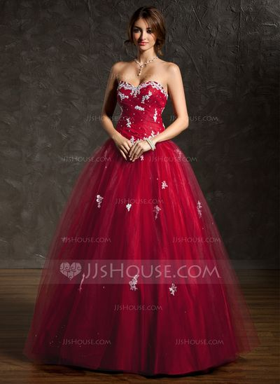 41f50daa4f Quinceanera Dresses -  183.99 - Ball-Gown Sweetheart Floor-Length Tulle  Quinceanera Dress With